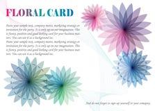 κάρτα floral Στοκ φωτογραφία με δικαίωμα ελεύθερης χρήσης