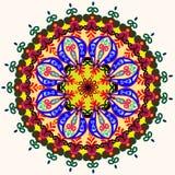Κάρτα Mandala πρόσκλησης Διανυσματική απεικόνιση