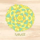 Κάρτα Namaste Διανυσματική απεικόνιση doodle Στοκ εικόνες με δικαίωμα ελεύθερης χρήσης