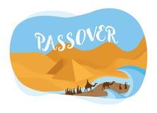 Κάρτα Passover οι πληθυσμοί του Ισραήλ που ξεπερνούν το Αίγυπτος-διάνυσμα στοκ φωτογραφίες με δικαίωμα ελεύθερης χρήσης