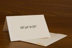 κάρτα rsvp Στοκ εικόνα με δικαίωμα ελεύθερης χρήσης