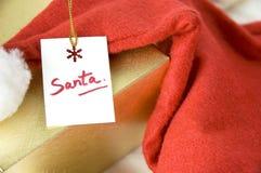 Κάρτα Santa Στοκ Εικόνες