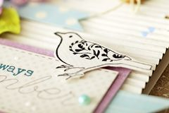 Κάρτα Scrapbooking στοκ φωτογραφία με δικαίωμα ελεύθερης χρήσης