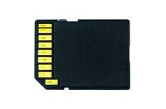 Κάρτα SD, μαύρο χρώμα καρτών μνήμης Στοκ εικόνες με δικαίωμα ελεύθερης χρήσης