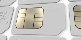 κάρτα sim Στοκ Εικόνες