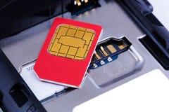 κάρτα sim Στοκ Εικόνα