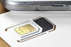 Κάρτα 04 SIM Στοκ φωτογραφία με δικαίωμα ελεύθερης χρήσης