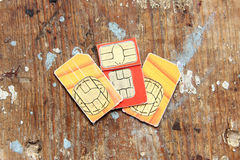 κάρτα sim Στοκ εικόνα με δικαίωμα ελεύθερης χρήσης
