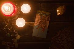 Κάρτα Tarot Μελλοντική ανάγνωση divination στοκ φωτογραφία