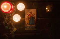 Κάρτα Tarot Μελλοντική ανάγνωση divination Στοκ εικόνες με δικαίωμα ελεύθερης χρήσης