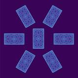 Κάρτα Tarot που διαδίδεται Αντίστροφη πλευρά διανυσματική απεικόνιση