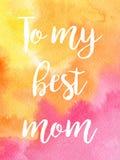 Κάρτα watercolor χαιρετισμού μητέρα s ημέρας Στοκ εικόνες με δικαίωμα ελεύθερης χρήσης
