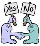 Κάρτα yes-no Στοκ Εικόνα