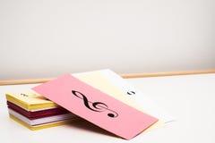 Κάρτες λάμψης μουσικής Στοκ Εικόνα