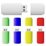 Κάρτες λάμψης χρωμάτων Στοκ Εικόνα