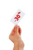 Κάρτες έκπτωσης Στοκ φωτογραφίες με δικαίωμα ελεύθερης χρήσης