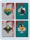 Κάρτες αποκριών Στοκ φωτογραφία με δικαίωμα ελεύθερης χρήσης