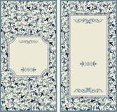 Κάρτες γαμήλιας πρόσκλησης με τα floral στοιχεία ελεύθερη απεικόνιση δικαιώματος