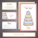 Κάρτες γαμήλιας πρόσκλησης στα χρώματα κρητιδογραφιών Στοκ εικόνες με δικαίωμα ελεύθερης χρήσης