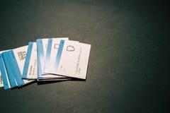 Κάρτες για την εκμάθηση των αγγλικών στοκ φωτογραφία με δικαίωμα ελεύθερης χρήσης