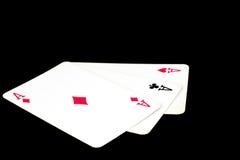 Κάρτες για το πόκερ Στοκ εικόνες με δικαίωμα ελεύθερης χρήσης