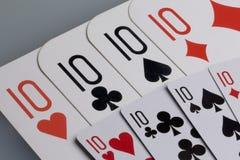 κάρτες Εξαρτήματα για το παιχνίδι Στοκ Εικόνα