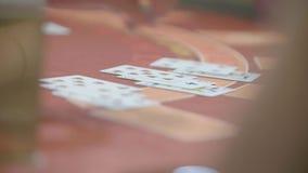 Κάρτες και τσιπ απόθεμα βίντεο
