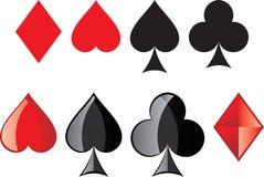 κάρτες καρτών που παίζουν  Στοκ φωτογραφία με δικαίωμα ελεύθερης χρήσης