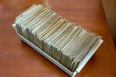 Κάρτες καταλόγων βιβλιοθήκης στοκ φωτογραφία με δικαίωμα ελεύθερης χρήσης