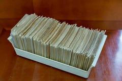Κάρτες καταλόγων βιβλιοθήκης στοκ εικόνα με δικαίωμα ελεύθερης χρήσης
