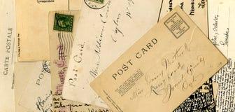 κάρτες κολάζ Στοκ Εικόνες