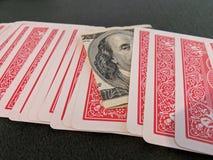 Κάρτες, λογαριασμός $100 στοκ φωτογραφία με δικαίωμα ελεύθερης χρήσης