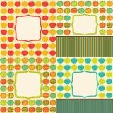 κάρτες μήλων Στοκ Φωτογραφία