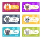 Κάρτες με τις γάτες home me take διάνυσμα Στοκ φωτογραφία με δικαίωμα ελεύθερης χρήσης