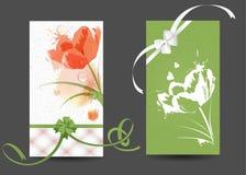 Κάρτες με τις εικόνες των λουλουδιών Στοκ Φωτογραφίες