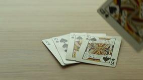 κάρτες με το πόκερ απόθεμα βίντεο
