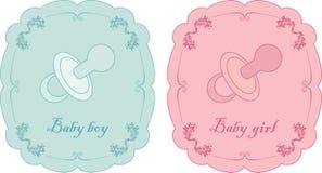 κάρτες μωρών Στοκ Φωτογραφία