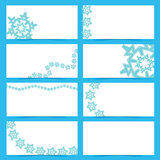Κάρτες νιφάδων χιονιού διανυσματική απεικόνιση