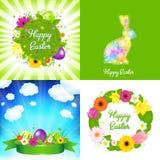 κάρτες Πάσχα ευτυχές Στοκ Εικόνα
