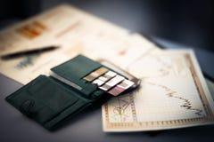Κάρτες πίστωσης και έκπτωσης Στοκ Εικόνες