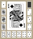 Κάρτες παιχνιδιού κοστουμιών διαμαντιών Στοκ Φωτογραφία