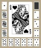 Κάρτες παιχνιδιού κοστουμιών καρδιών Στοκ φωτογραφία με δικαίωμα ελεύθερης χρήσης