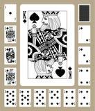 Κάρτες παιχνιδιού κοστουμιών φτυαριών Στοκ φωτογραφίες με δικαίωμα ελεύθερης χρήσης