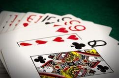 Κάρτες παιχνιδιού που απομονώνονται Στοκ φωτογραφία με δικαίωμα ελεύθερης χρήσης