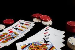Κάρτες παιχνιδιού Στοκ εικόνες με δικαίωμα ελεύθερης χρήσης