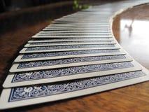 κάρτες που διαδίδονται Στοκ φωτογραφία με δικαίωμα ελεύθερης χρήσης