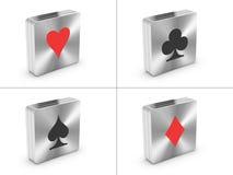 κάρτες που παίζουν τα σύμβολα Στοκ Φωτογραφίες