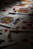 κάρτες που παίζουν τον πίν&a Στοκ Εικόνες