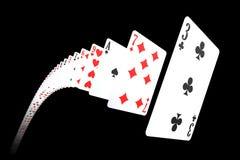 κάρτες που πετούν το παιχνίδι Στοκ Φωτογραφία