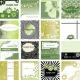 κάρτες πράσινες πολλές Στοκ Φωτογραφία